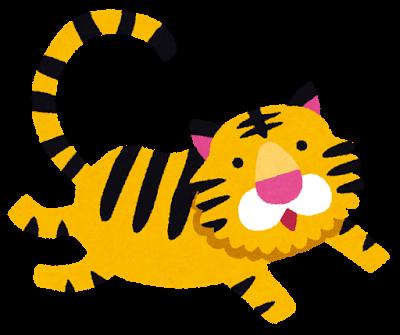干支の虎のイラスト